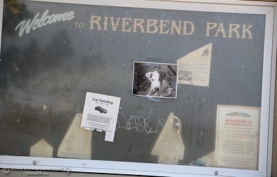 A message board is seen at Riverbend Park in Oroville, Calif. Friday Sept. 22, 2017. (Bill Husa -- Enterprise-Record)