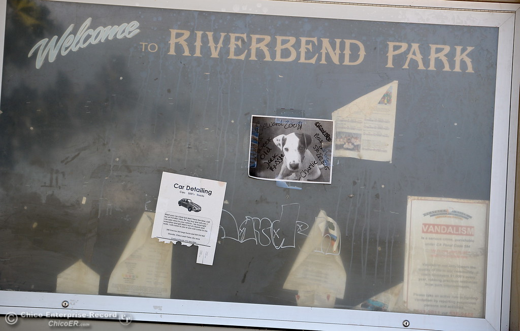 . A message board is seen at Riverbend Park in Oroville, Calif. Friday Sept. 22, 2017. (Bill Husa -- Enterprise-Record)