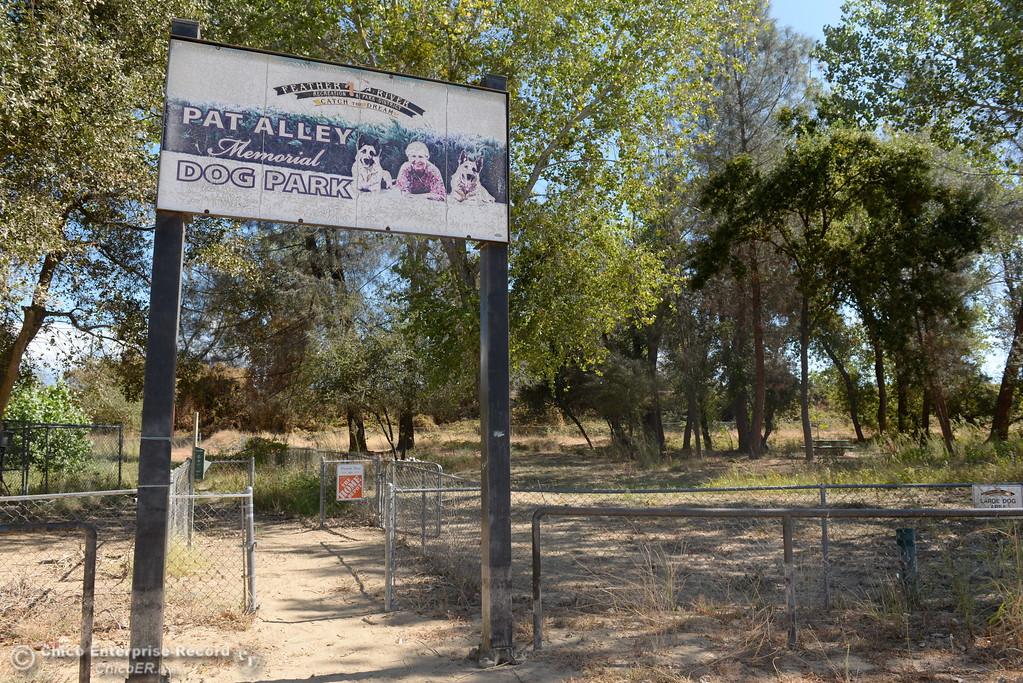 . The Pat Ally Memorial Dog Park remains closed at Riverbend Park in Oroville, Calif. Friday Sept. 22, 2017. (Bill Husa -- Enterprise-Record)