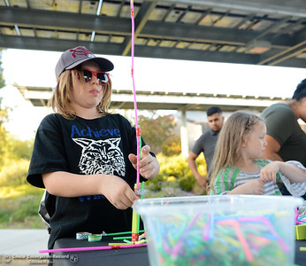 Hundreds of K-8 students visted Butte College today for the Explorerís Faire, an event that aims to expose kids to STEAM careers Wednesday September 27, 2017 at Butte College in Butte Valley, California. (Emily Bertolino -- Enterprise-Record)