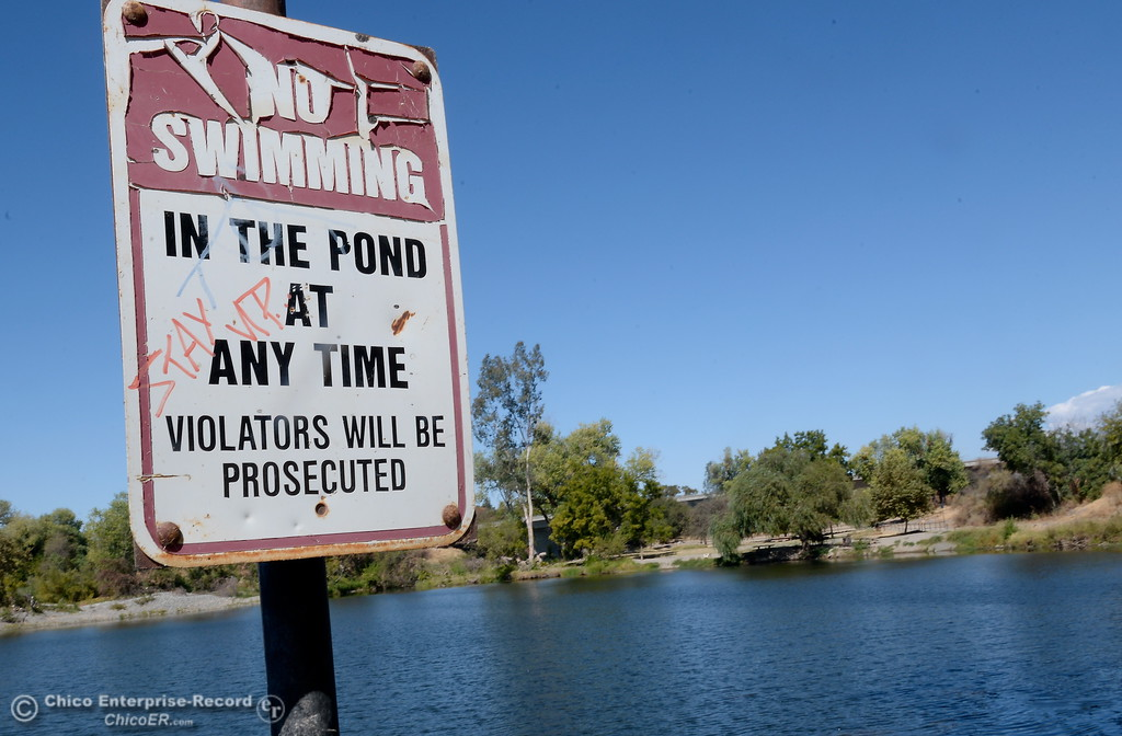 . The fishing pond and dog park areas remain closed however the gate to the area was open at Riverbend Park in Oroville, Calif. Friday Sept. 22, 2017. (Bill Husa -- Enterprise-Record)