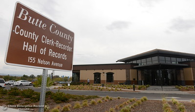 The Butte County Clerk-Recorder Hall of Records building is a busy place as election day approaches Monday Oct. 24, 2016. (Bill Husa -- Enterprise-Record)