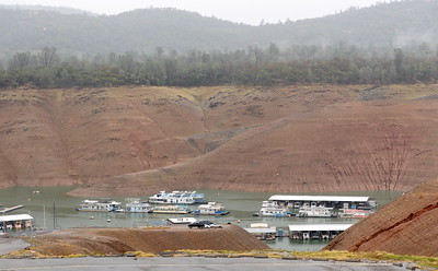 The is no public access to the Bidwell Canyon Marina currently at Lake Oroville, Calif. Wednesday Nov. 15, 2017. (Bill Husa -- Enterprise-Record)