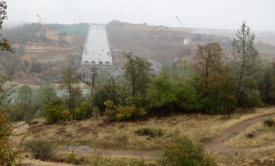 The Lake Oroville Dam Spillway is seen in  Oroville, Calif. Wednesday Nov. 15, 2017. (Bill Husa -- Enterprise-Record)
