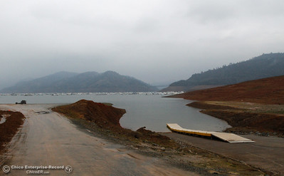 As rain continues to pour over the North Valley, Lake Oroville's level rises December 14, 2016 at Bidwell Canyon Marina in Oroville, California. (Emily Bertolino -- Mercury Register)