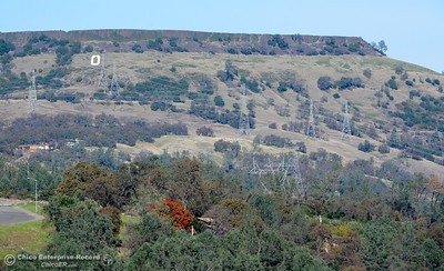 The Big O is seen below Table Mountain in Oroville, Calif. Wed. Nov. 29, 2017. (Bill Husa -- Enterprise-Record)
