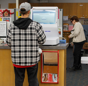 "The new self checkout system at the Oroville Library is so easy, ""a four-year-old could use it,"" one patron commented February 2, 2017 at the Oroville Branch in Oroville, California. (Emily Bertolino -- Enterprise-Record)"