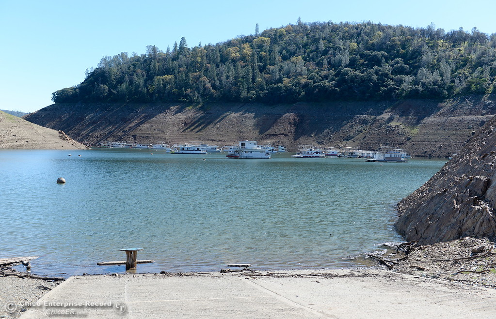 . Lake levels remain low at Lake Oroville but the boat launch is open at Lime Saddle Marina in Paradise, Calif. Monday March 5, 2018. (Bill Husa -- Enterprise-Record)