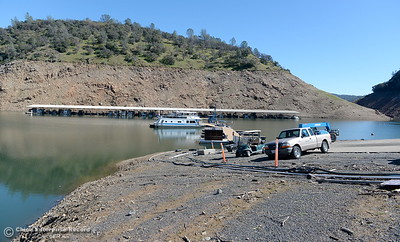 Lake levels remain low at Lake Oroville seen here at Lime Saddle Marina in Paradise, Calif. Monday March 5, 2018. (Bill Husa -- Enterprise-Record)