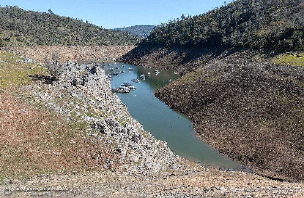 . Current levels at Lake Oroville are seen near the Lime Saddle Marina Monday March 5, 2018. (Bill Husa -- Enterprise-Record)