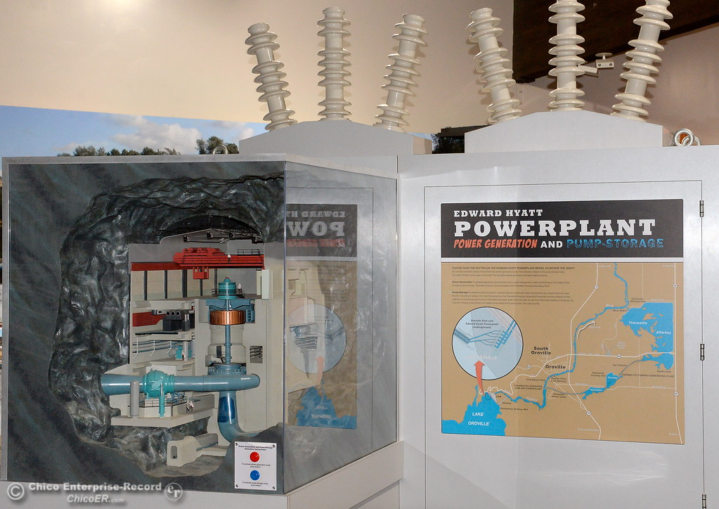 . A neat cuttout display of the Hyatt Power Plant is just one of the cool things to see at the Oroville Visitors Center in Oroville, Calif. Thurs. March 15, 2018. (Bill Husa -- Enterprise-Record)