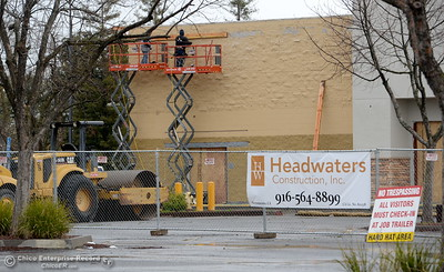 Construction is underway at the old WalMart location on Oro Dam Blvd. in Oroville, Calif. Thurs. March 15, 2018. (Bill Husa -- Enterprise-Record)