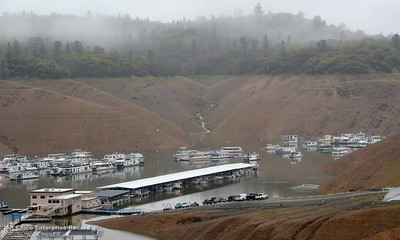 Bidwell Canyon Marina is seen as rain pours around Butte County Calif. Wednesday March 21, 2018.  (Bill Husa -- Enterprise-Record)