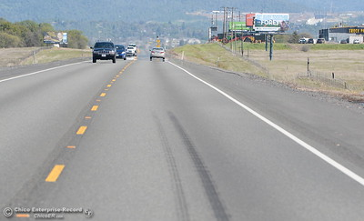 A stretch of northbound Highway 70 is seen with skidmarks south of Oroville, Calif. Fri. March 23. The highway has claimed many lives over the years and now millions of dollars have been granted for repairs. (Bill Husa -- Enterprise-Record)