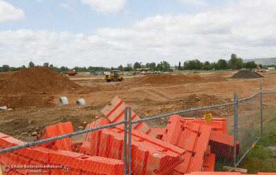 Construction continues on the new Walmart Supercenter April 11, 2016 in the lot between Feather River Blvd and Cal Oak Road in Oroville, Calif. (Emily Bertolino -- Mercury Register)