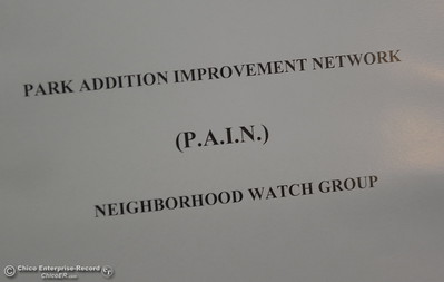 The Park Addition Improvement Network PAIN Neighborhood Watch group meets every fourth Thursday at the Library in Oroville, Calif. Wed. March 28, 2018.  (Bill Husa -- Enterprise-Record)