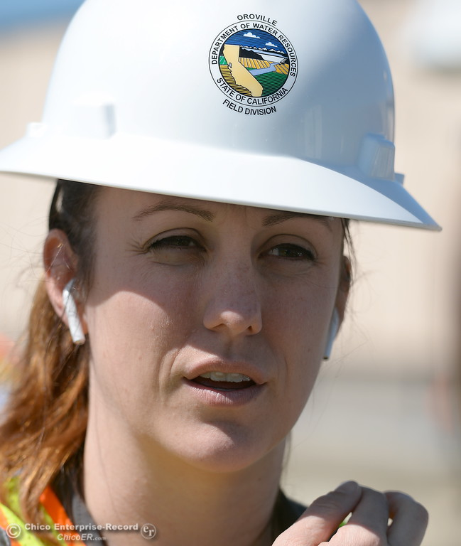 . Erin Mellon, assistant director of public affairs for DWR speaks during a tour of the Thermalito Power Plant in Oroville, Calif. Wed. March 28, 2018.  (Bill Husa -- Enterprise-Record)