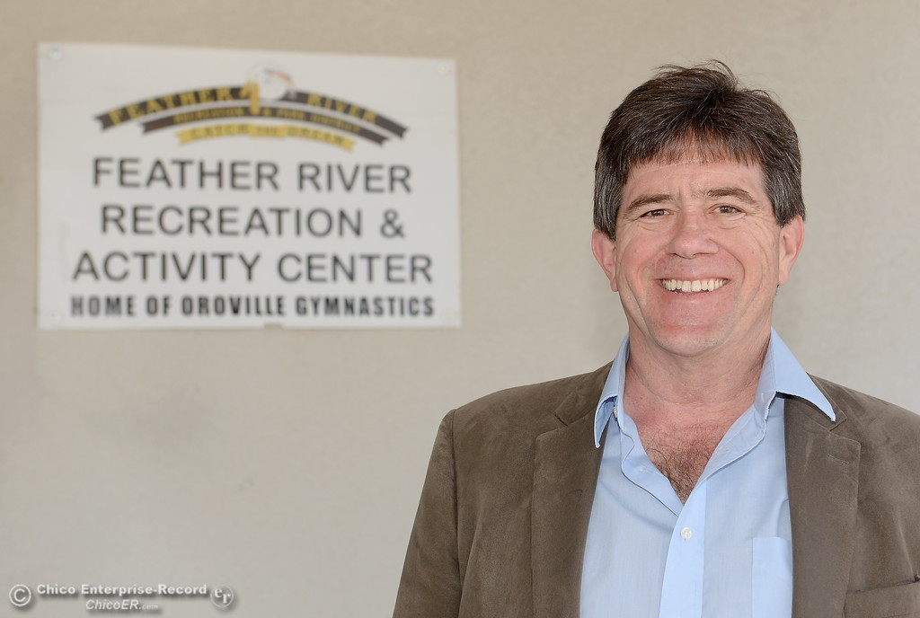 . New General Manager of FRRPD Randy Murphy smiles at the Feather River Recreation and Parks office in Oroville, Calif. Wed. April 4, 2018. (Bill Husa -- Enterprise-Record)