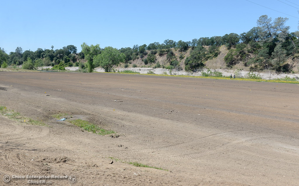 . The soccer fields have been graded and new irrigation and electrical is being installed while Riverbend Park remains closed as construction is underway on repairs to the park in Oroville, Calif. Wednesday May 2. 2018. (Bill Husa -- Enterprise-Record)