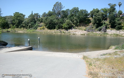 The boat ramp remains without a dock while Riverbend Park remains closed as construction is underway on repairs to the park in Oroville, Calif. Wednesday May 2. 2018. (Bill Husa -- Enterprise-Record)