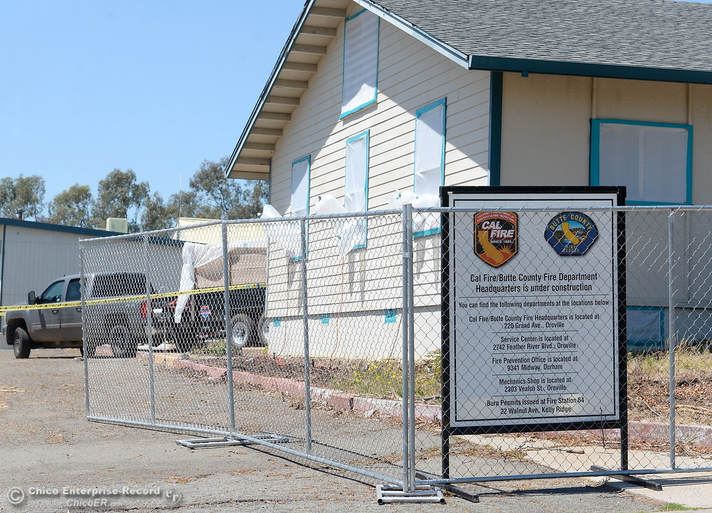 . Crews are currently removing asbestos during demolition of the Fire Station located at 176 Nelson Ave. in Oroville, Calif. Wednesday May 2. 2018. (Bill Husa -- Enterprise-Record)