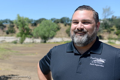 Park Supervisor Scott Thompson smiles as he talks about some of the current repairs underway at Riverbend Park in Oroville, Calif. Wednesday May 2. 2018. (Bill Husa -- Enterprise-Record)