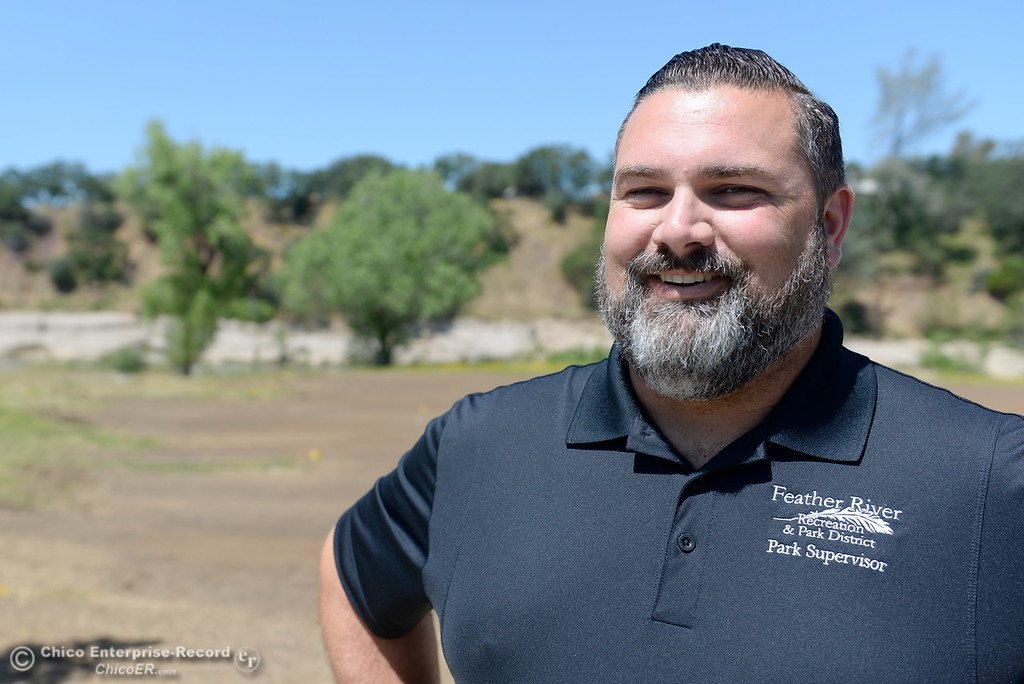 . Park Supervisor Scott Thompson smiles as he talks about some of the current repairs underway at Riverbend Park in Oroville, Calif. Wednesday May 2. 2018. (Bill Husa -- Enterprise-Record)