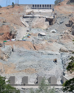 Work continues on the Lake Oroville Dam Controlled Spillway in Oroville, Calif. Monday June 5, 2017. (Bill Husa -- Enterprise-Record)