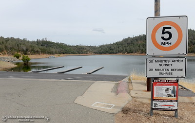 The main launch ramp at the Spillway Launch facility is seen here at Lake Oroville in Oroville, Calif. Tuesday June 14, 2016. (Bill Husa -- Enterprise-Record)