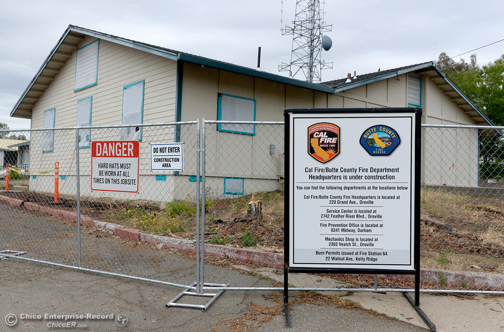 . Old CAL FIRE offices on Nelson Ave. are scheduled for demolition in Oroville, Calif. Wed. May 16, 2018.  (Bill Husa -- Enterprise-Record)