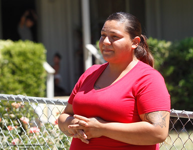 Maira Munoz talks about here experience evacuating her home with her family during the Wall Fire Thursday July 13, 2017 in Oroville, California.  (Emily Bertolino -- Enterprise-Record)