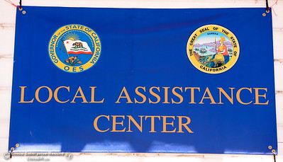 A Local Assistance Center has been opened for people impacted by the Wall Fire at the Municipal Auditorium in Oroville, Calif. Tuesday July 11, 2017. (Bill Husa -- Enterprise-Record)