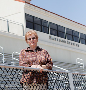 If you are to go to a game at Harrison Stadium you will be sure to see Nonie Buis who plays many roles in helping with youth and high school sports throughout the year August 15, 2016 at Harrison Stadium in Oroville, Calif. (Emily Bertolino -- Mercury Register)