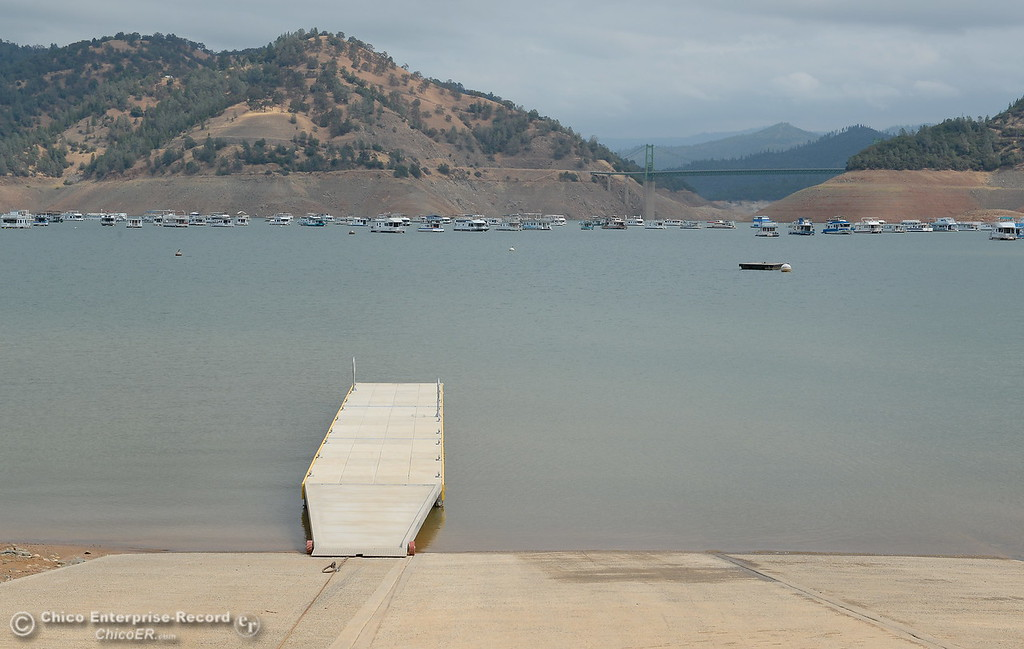 . The secondary paved boat launch is seen at Bidwell Canyon Marina in Oroville, Calif. Thursday Sept. 14, 2017. (Bill Husa -- Enterprise-Record)
