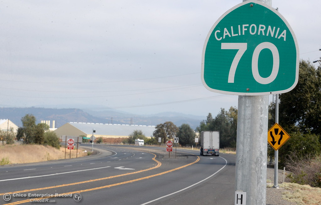 . Hwy. 70 turns into a 4 lane highway in Oroville, Calif. Thursday Sept. 14, 2017. (Bill Husa -- Enterprise-Record)