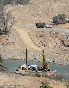 Work continues at the Oroville Dam Spillway  in Oroville, Calif. Tues. Aug. 29, 2017. (Bill Husa -- Enterprise-Record)
