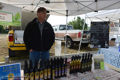 Lodestar Farms' James Johansson talks about the move for the Oroville Certified Farmers Market's relocation Saturday, May 14, 2016, to Riverbend Park in Oroville, California. (Dan Reidel -- Enterprise-Record)