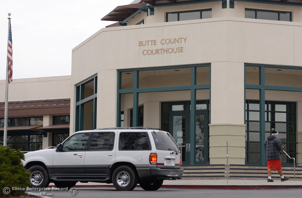 . Few vehicles are seen in the parking lot but it appears that the Butte County Superior Courthouse was back in use as the Lake Oroville Dam Spillway emergency continues in Oroville, Calif. Wed. Feb. 15, 2017. (Bill Husa -- Enterprise-Record)