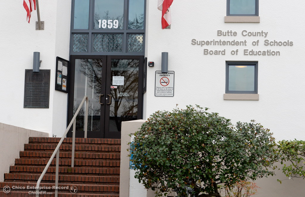 . The Butte County Superintendent of Schools Board of Education building remains closed until Feb. 21st as the Lake Oroville Dam Spillway emergency continues in Oroville, Calif. Wed. Feb. 15, 2017. (Bill Husa -- Enterprise-Record)