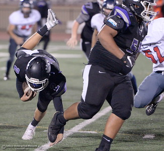 during first half action of Oroville vs Central Valley football Friday, Sept. 21, 2018.(Bill Husa -- Enterprise-Record)
