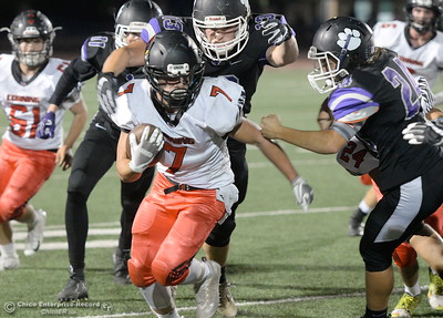 during first half action of Oroville vs Corning football at Harrison Stadium in Oroville, Calif. Friday Sept. 7, 2018.  (Bill Husa -- Enterprise-Record)