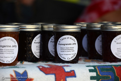 Maidu recipes were used to create the jams at A Taste of Maidu during the Historic Downtown Oroville Certified Farmers Market on Wednesday, March 30, 2016, on  Myers Street in Oroville, California. (Dan Reidel -- Mercury-Register)