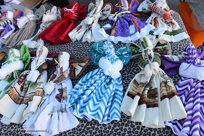 """Towel angels"" for sale at Katrina's Krafts during the Historic Downtown Oroville Certified Farmers Market on Wednesday, March 30, 2016, on  Myers Street in Oroville, California. (Dan Reidel -- Mercury-Register)"
