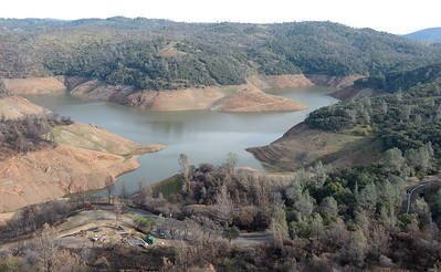 (Bill Husa -- Enterprise-Record)  Lake Oroville is seen from a ridge along Silvera Ct. in Chico, Calif. Tues. Dec. 27, 2016.