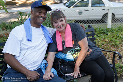 Chuck and Lisa McCarter at the annual National Night Out August 2, 2016 at the Lott Home in Oroville, Calif. (Emily Bertolino -- Mercury Register)