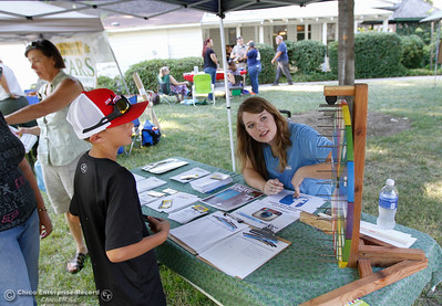 Kayla Terry with the Feather River Recreation and Park District at the annual National Night Out August 2, 2016 at the Lott Home in Oroville, Calif. (Emily Bertolino -- Mercury Register)