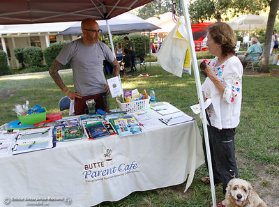 "at the annual National Night Out, a ""community-building campaign that promotes police-community partnerships and neighborhood camaraderie to make our neighborhoods safer, better places to live"" August 2, 2016 at the Lott Home in Oroville, Calif. (Emily Bertolino -- Mercury Register)"