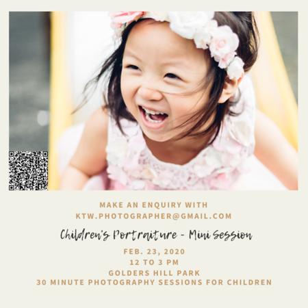 Children's Portraiture Mini Session Social Media Post
