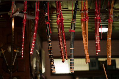 Ancient-style Thai swords (daab); Aranyik  © 2012 KT WATSON