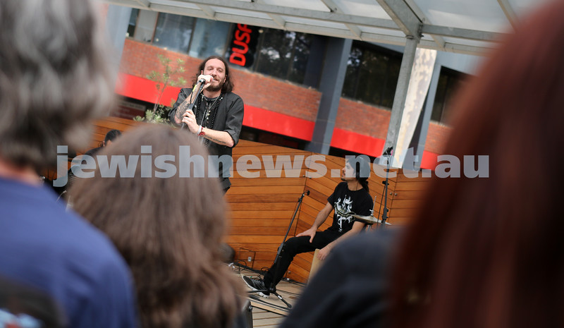 21-3-2014. Touring Israeli metal band Orphaned Land played a special acoustic concert at Deakin University for Harmony Day. Photo: Lochlan Tangas